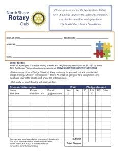 North Shore Rotary Form Back 2016